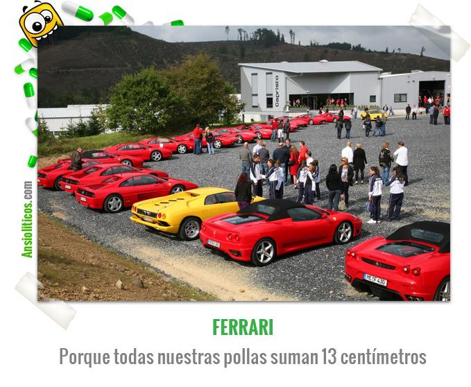Chiste de Coches de una Concentración de Ferrari