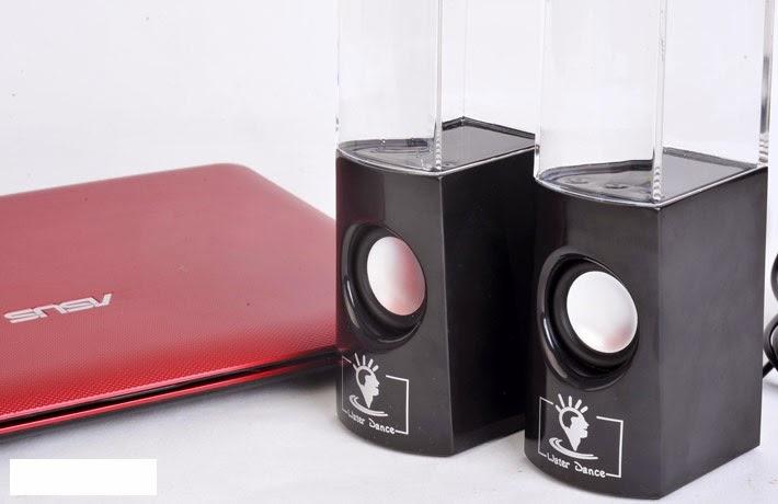 Cặp loa nước 3D đen