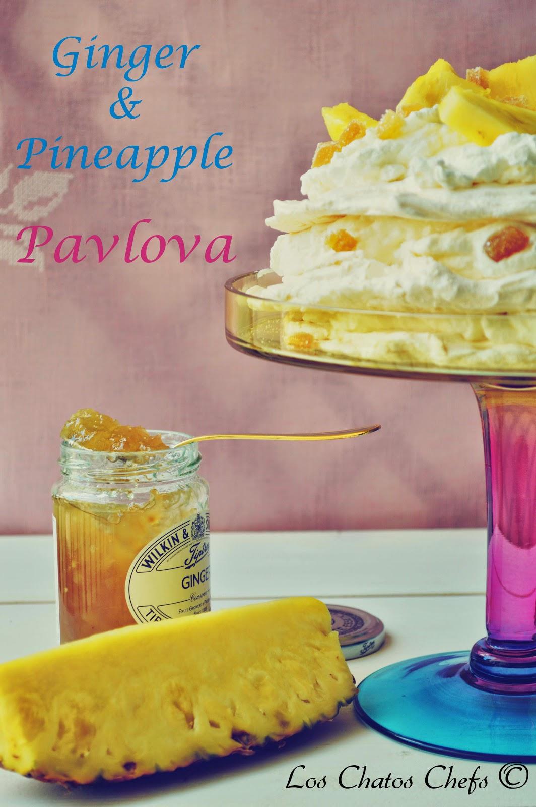 receta de pavlova con gengibre y piña
