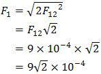 Penentuan resultan gaya yang terjadi pada muatan q1