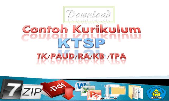 Contoh Kurikulum TK (KTSP TK/PAUD/RA/KB/TPA)