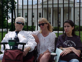 Judy Neal and two other women at the White House