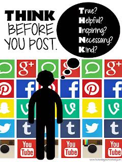 social media before we post: T.H.I.N.K !