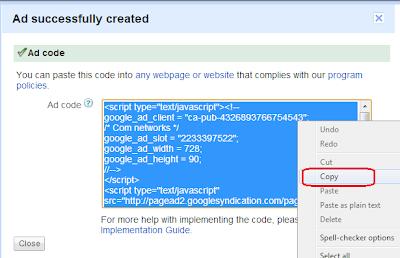 get Google Adsense Ads Code