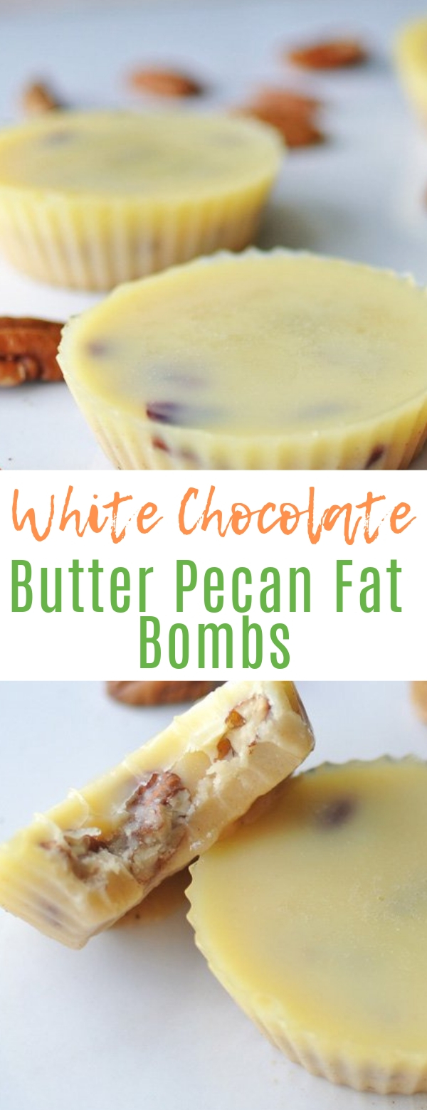 White Chocolate Butter Pecan Fat Bombs #whitechocolate #butter #keto