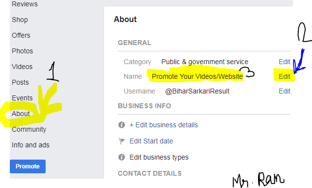 How to Change Facebook's Page Name?