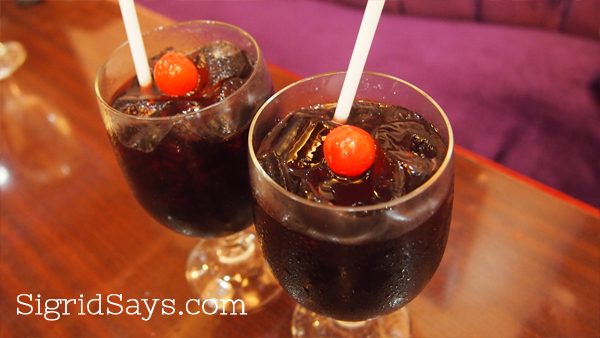 Rose pomegranate drink at Kabbara Cafe