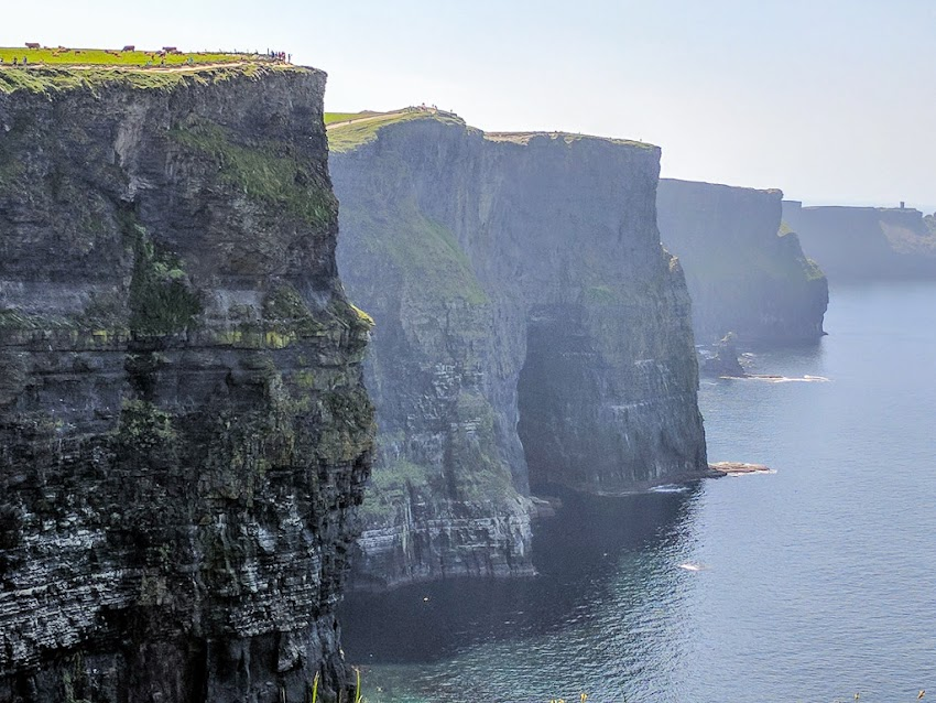 Ireland May 2017 photo by Corey Templeton of epic Cliffs of Moher. The cliffs reach as high as 702 feet above the Atlantic Ocean