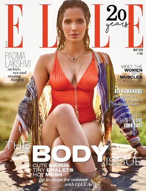 Actress, Model, @ Padma Lakshmi - Elle India, May 2016