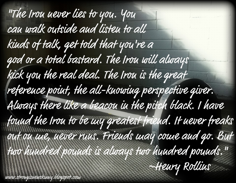 Henry rollins the iron essay