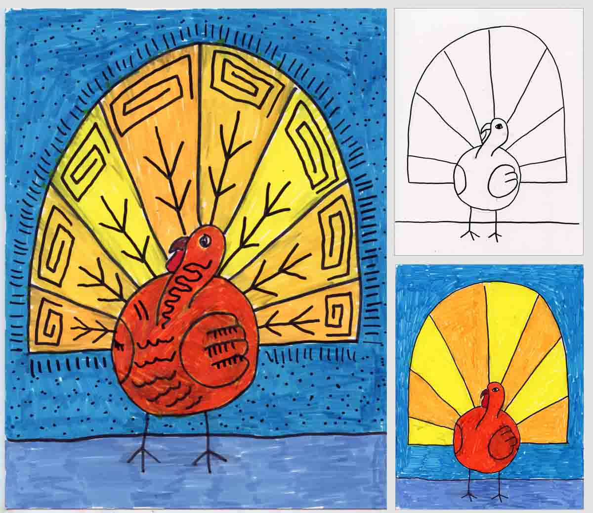 Abstract Turkey Drawing