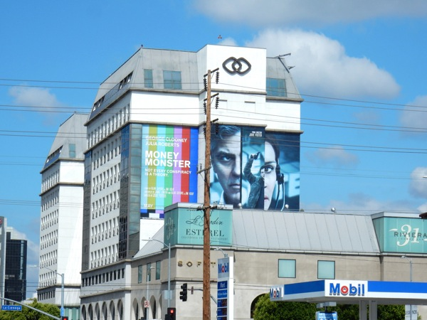 Giant Money Monster movie billboard