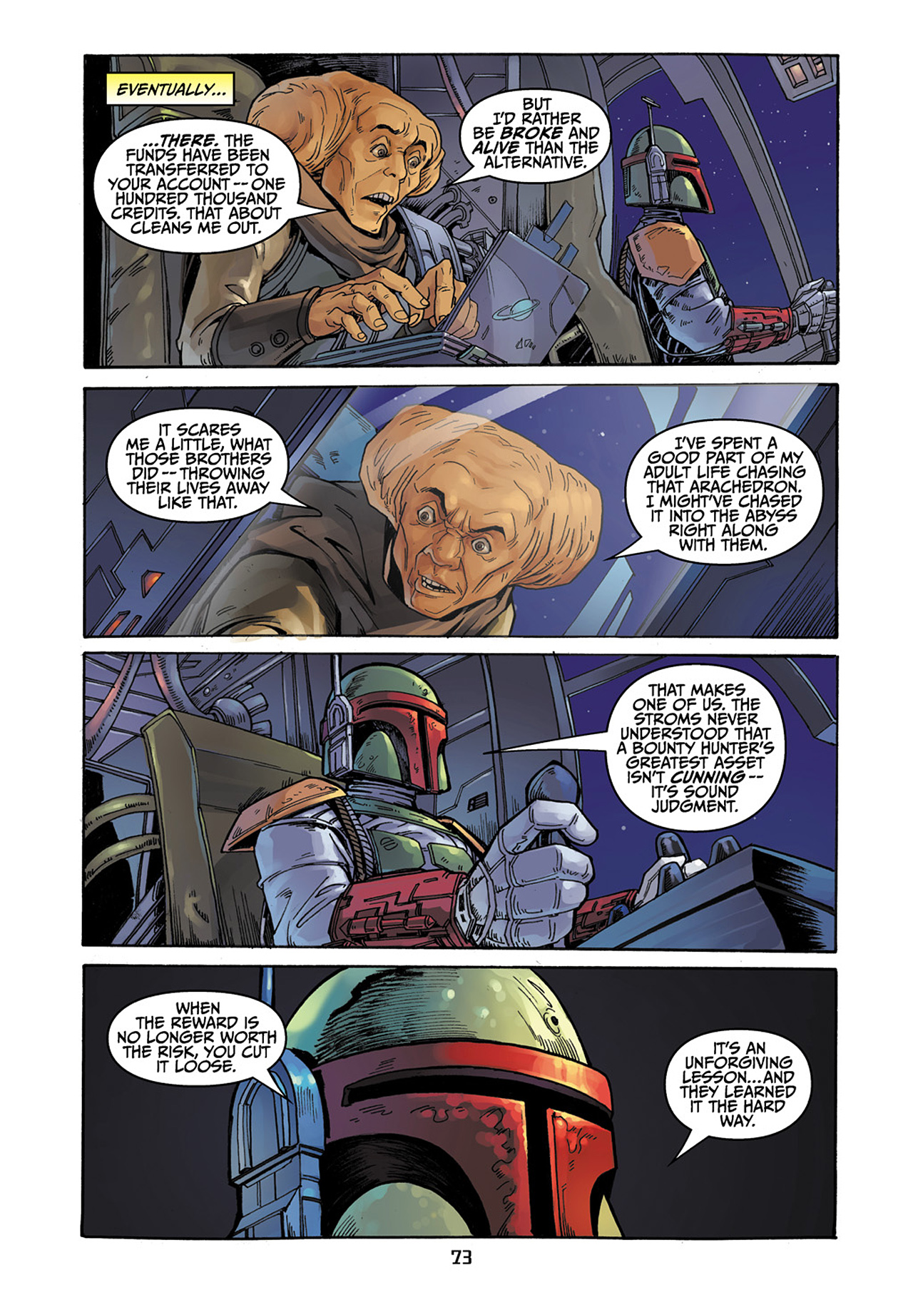 Read online Star Wars Adventures comic -  Issue # Issue Boba Fett and the Ship of Fear - 74