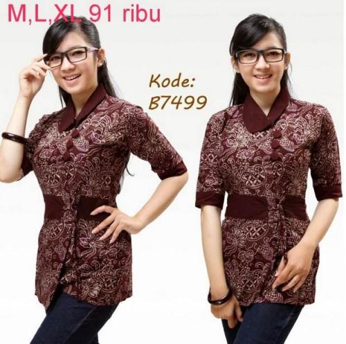 Contoh Model Baju Batik Kantor Wanita Terbaru