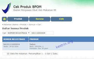 crystal x halal dan bersertifikat bpom