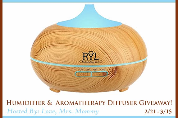 Aromatherapy Humidifier Diffuser Giveaway