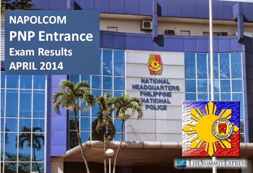 April 2014 NAPOLCOM PNP Entrance Exam Results List of Passers