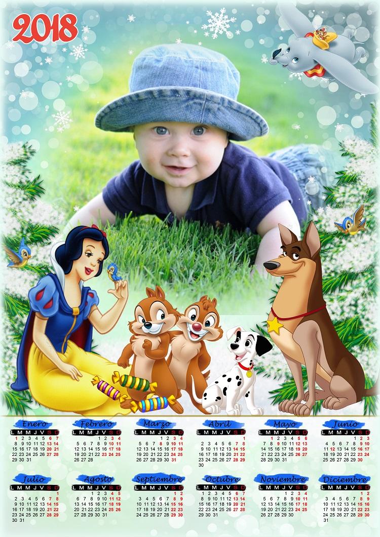 Calendario 2018 para colocar fotos psd Graficos Global