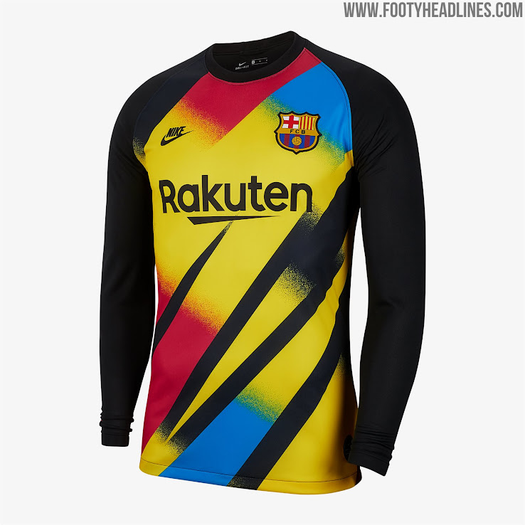 reputable site 72c4a 15695 Crazy Nike FC Barcelona 19-20 Champions League Goalkeeper ...