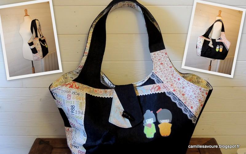sac de plage sac de couture. Black Bedroom Furniture Sets. Home Design Ideas