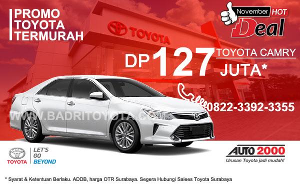 Paket Keren Toyota Camry DP 127 Juta, Promo Toyota Surabaya