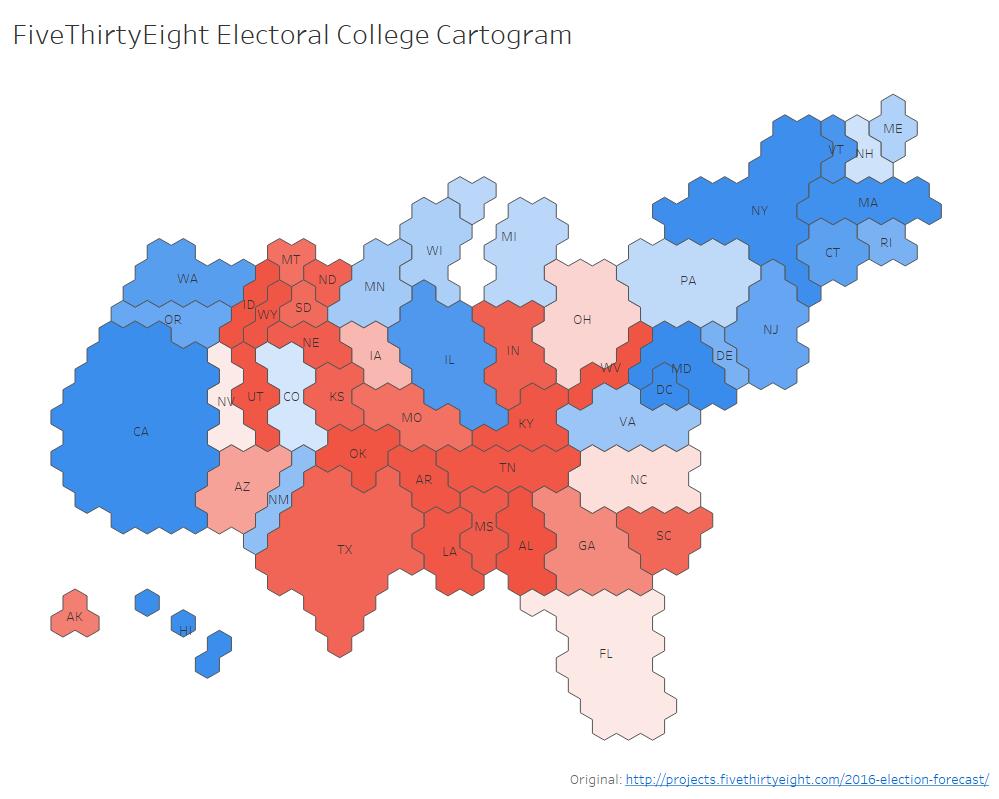 Custom Tile Cartograms in Tableau - Ken Flerlage: Analytics