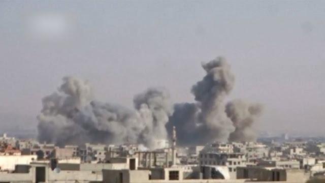 Rezim Assad dan Rusia Masih Terus Gempur Ghouta Timur, 674 Warga Tewas