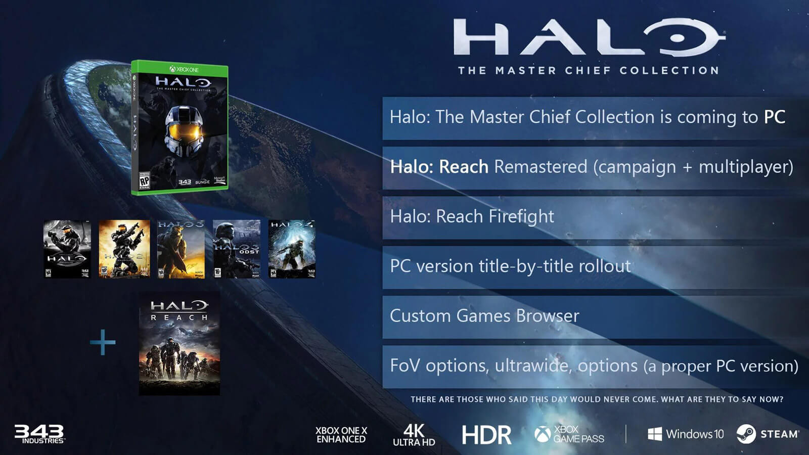 Master Chief Collection Coming to PC, Adds Halo: Reach