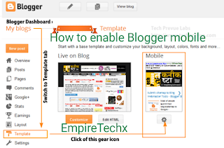 how to enable Blogger mobile template view