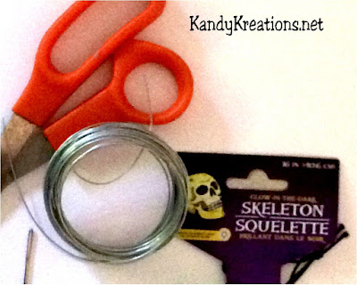 Halloween Climbing Skeleton DIY Ingredients