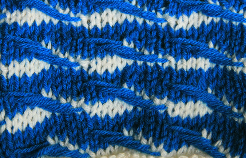 Anything Creative Multicolor Knit Pattern A Day Day 6 Wave Pattern