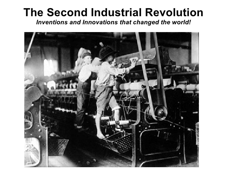 we owe the technology of today from the industrial revolution Technological progress never occurs in a vacuum, of course, and the industrial  revolution was greatly helped along by innovations and.