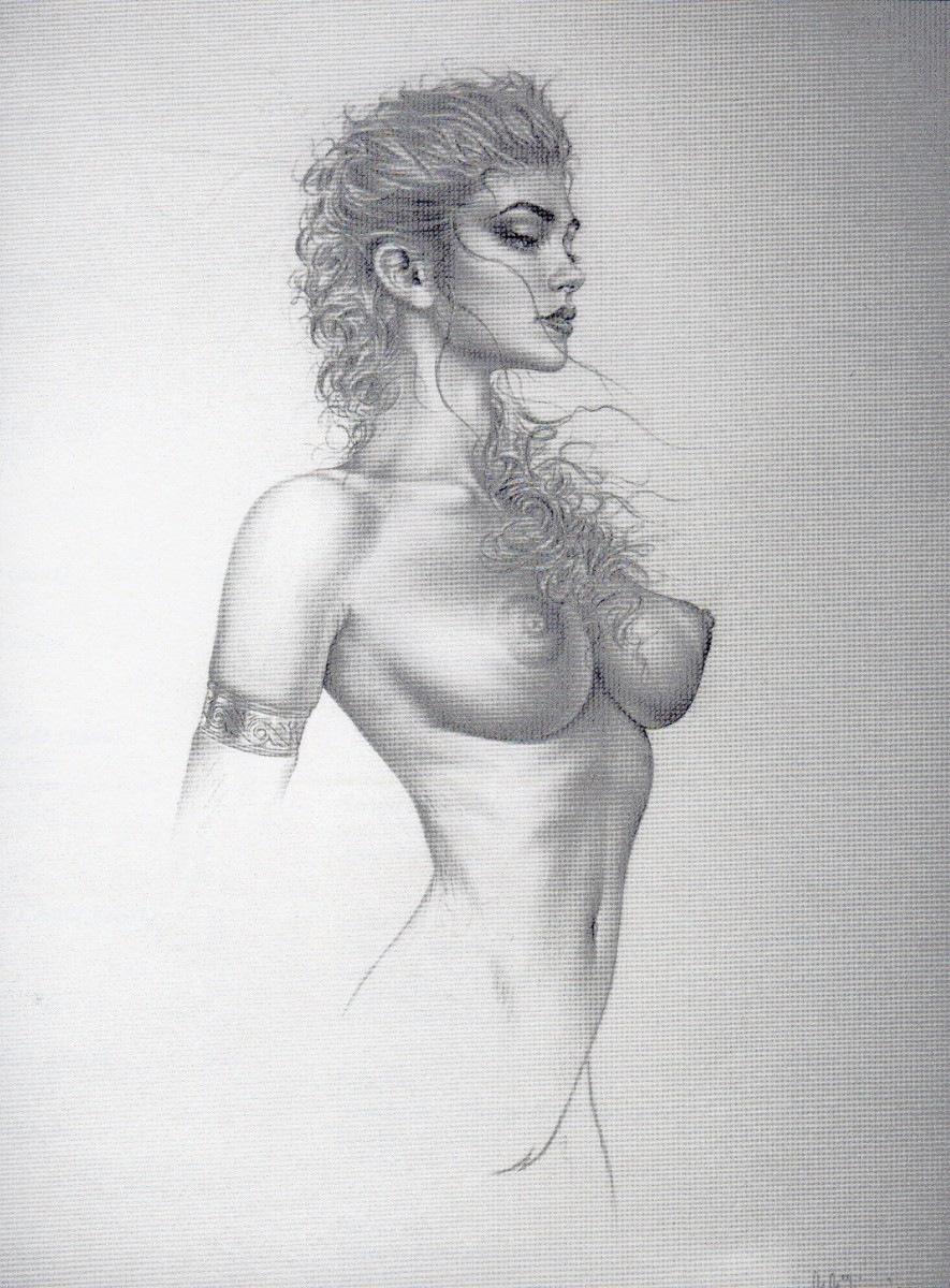 Рисунки карандашом девушек голых