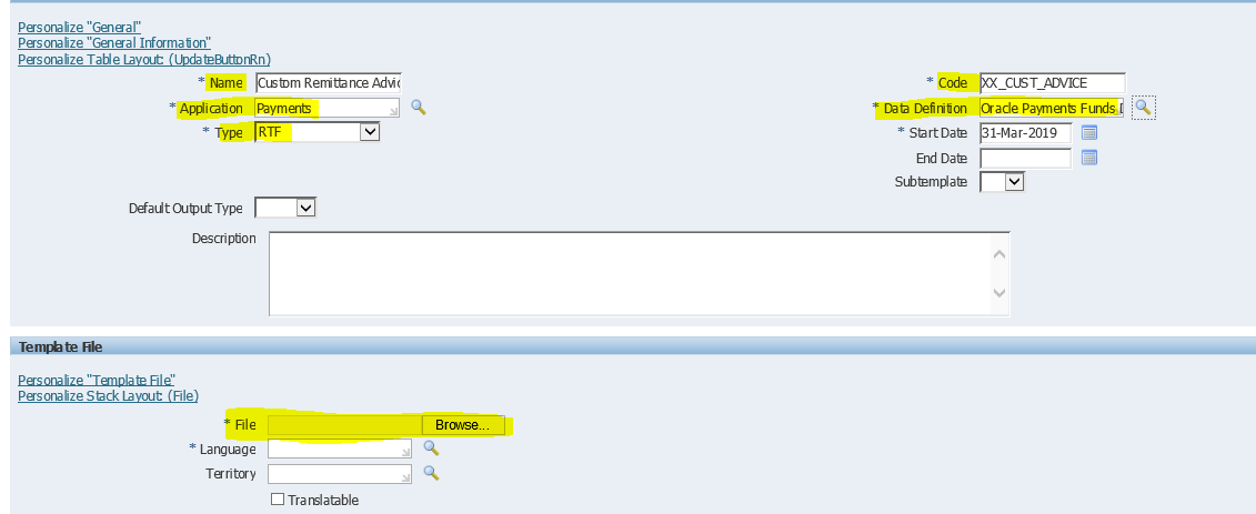 Oracle Application's Blog: How to customize the separate