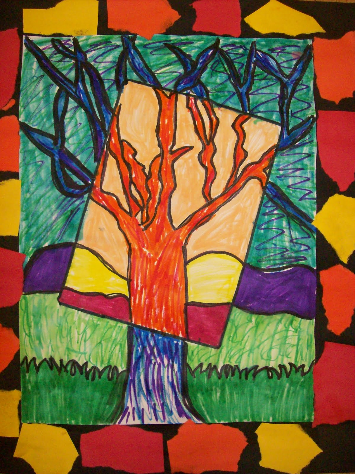 Cce Art Happenings 2nd Grade Warm Cool Drawings