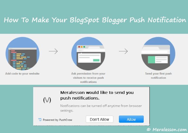 Push Notification for blogger