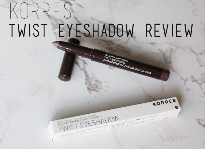 Beauty: Korres volcanic mineral twist eyeshadow review