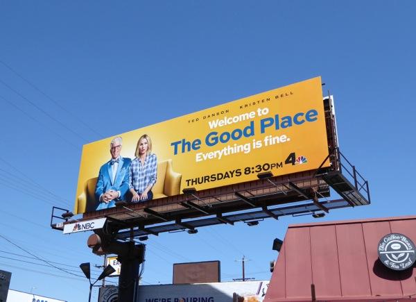 Good Place series premiere billboard