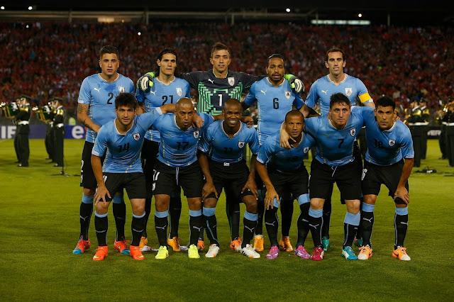 Formación de Uruguay ante Chile, amistoso disputado el 18 de noviembre de 2014
