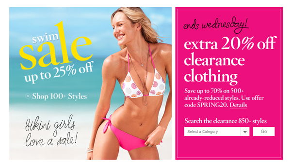 Victoria's Secret Additional 20% off Clearance + Free Shipping