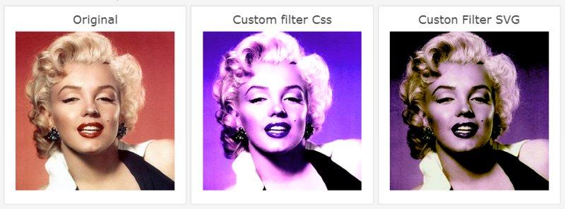 Imagen de Marilyn Monroe con filtros Css y SVG