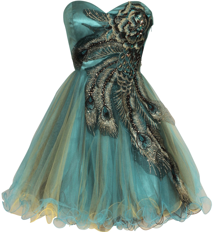 White peacock dress - photo#44