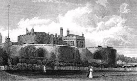 Walmer Castle, Kent  from England's Topographer or a new and complete history  of the county of Kent by WH Ireland (1829)
