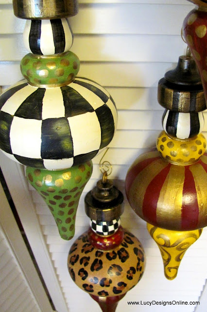 hand painted ornaments in different whimsical designs