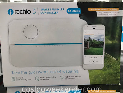 Easily maintain a watering schedule for your lawn with the Rachio 3 Smart Sprinkler Controller