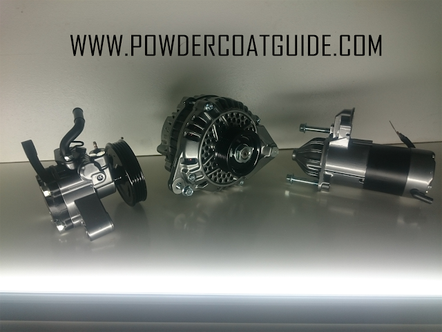 powder coated alternator power steering pump and starter motor