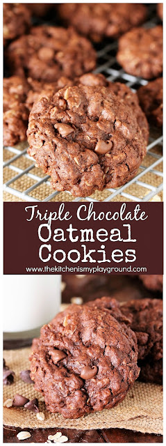 Triple Chocolate Oatmeal Cookies with Chocolate Chips image