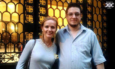 Amy McAllister and I after her performance at CCBB Rio de Janeiro