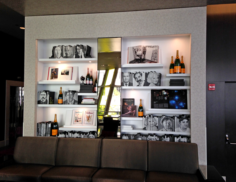 Diy Idea Bookshelf Wall At The Wit How About Orange