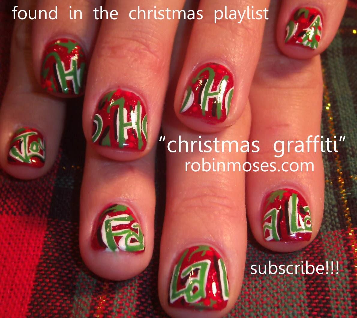 Nail Art By Robin Moses Nail Art Christmas Holiday Nail Art